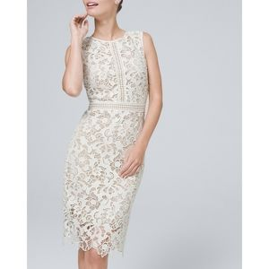 WHBM Crochet Lace Shift Dress